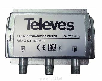 "Televes Filtr microcavities LTE ""F"" 5...782MHz Selektywny 403302"