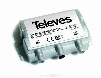 "Televes Filtr microcavities LTE ""F"" 5...790MHz Selektywny 403301"